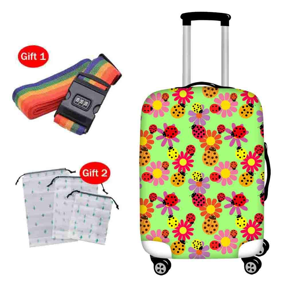 Suitcase Cover Elastic Shockproof Breathable Protective Sleeve Trolley Case Travel Thick Wear-Resistant Waterproof Dust Cover