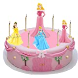 Princess Tortendeko Cinderella + Mini Belle, Mini Cinderelle und Mini Aurora - Bullyland - Prinzessin Kuchendeko