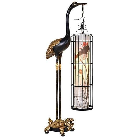 TANSEN Creativo Chino Antiguo grúa de Tortuga Yannian lámpara de ...