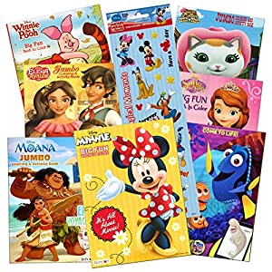 Disney  Coloring Books For Kids Toddlers Bulk Set -- 8 Books and Sticker Pack (Minnie Mouse & Friends)