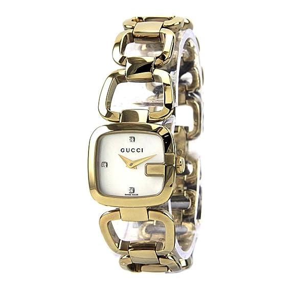 Gucci YA125513 - Reloj para mujeres, correa de acero inoxidable color dorado: Amazon.es: Relojes