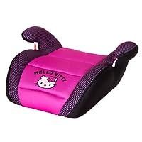 ABC PARTS Sillita de auto Hello Kitty para niños, alzador - rosa y negro - 6 años o más