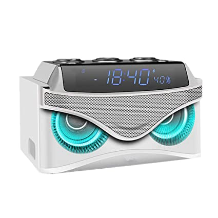Reloj Digital Bluetooth Altavoz pequeño estéreo Mini inalámbrico teléfono móvil Ordenador subwoofer Alarma Reloj Despertador Creativo