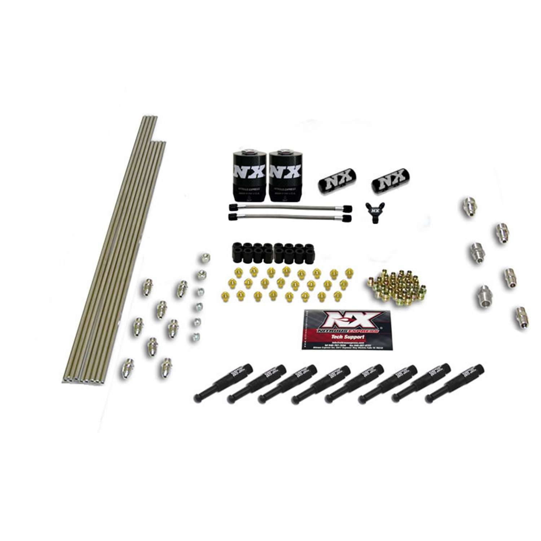 Nitrous Express 13381 8-Cylinder 1//16 Dry Nozzle Intake Plumbing Kit