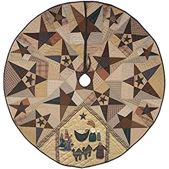 Amazon Com Primitive Star With Nativity Quilted Christmas