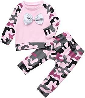Baby Clothes Set Camouflage Long Sleeves T Shirt Tops + Pants Outfits Set Outfit Clothing