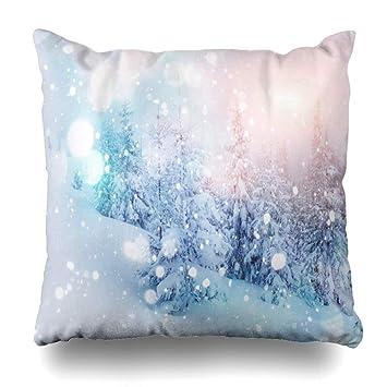 Amazon.com: Ahawoso - Funda de almohada para nieve, escena ...