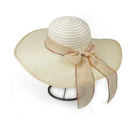 ZUOANCHEN Sombrero De Sol Sombrero De Paja De Ala Grande Mujer Gorro De  Playa De Verano 35724c50304f