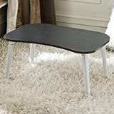 Jerry & Maggie - 4-legs Laptop Desk Foldable Lapdesk Play Game Table Board - Otaku Lazy Play Style Lightweight Portable Party Personal Wood Laptop on bed Sofa Black