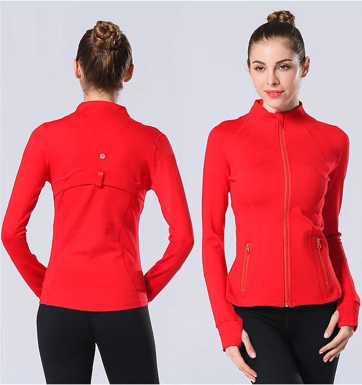UDIY Women Running Yoga Slim UV Protect Sweatshirts with Two Side Pocket Jacket Coat