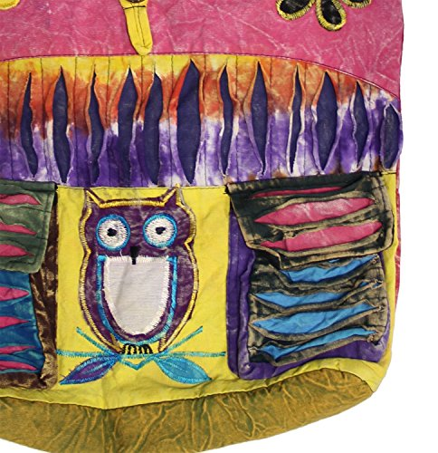 Cross Hobo Sling Pink Nepal KayJayStyles Hippie body Bag Owl qRtwqFxn7
