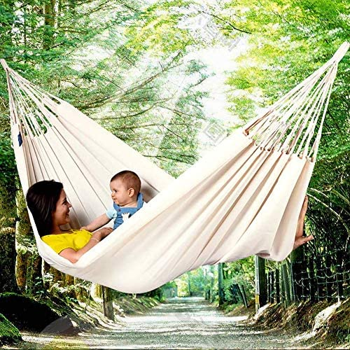 YANGSANJIN Comfort Durevole Amaca a Strisce, Amaca Leggera, per Giardino Interno all'aperto, Verde
