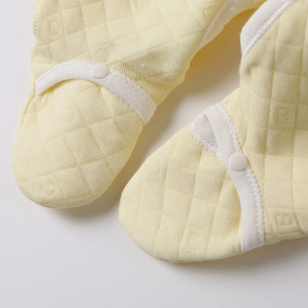 COBROO Pyjama 100/% Coton avec moufles pour Nouveau-n/é 0-6 Mois