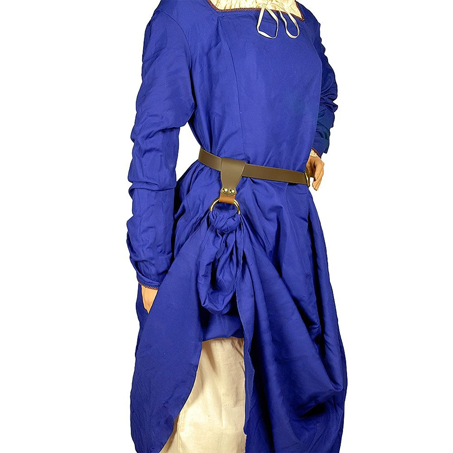 Medieval Renaissance Lady's Brown Top Grain Leather Skirt Hike