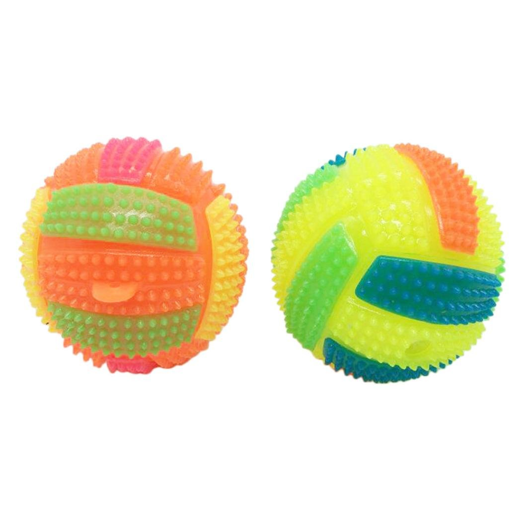 Gbell LED Volleyball, Flashing Light Up Bouncing Hedgehog Ball, Kids Prarty Suppliers,7.5CM/6.5CM (A)