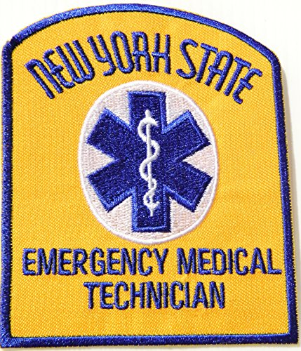 [NEW YORK STATE EMERGENCY MEDICAL TECHNICIAN PARAMEDIC EMT Logo T shirt Jacket Uniform Patch Iron on Embroidered Sign Badge] (First Responders Costumes)