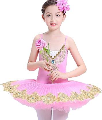 Falda de Baile para niños Sling Ballet Falda Falda de hojaldre ...