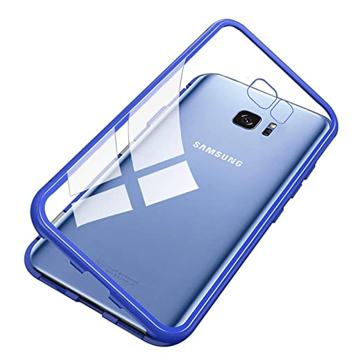 size 40 4e11b 2344e Amazon.com: UNIYA Galaxy S7 Edge Magnetic Case, Tempered Glass ...