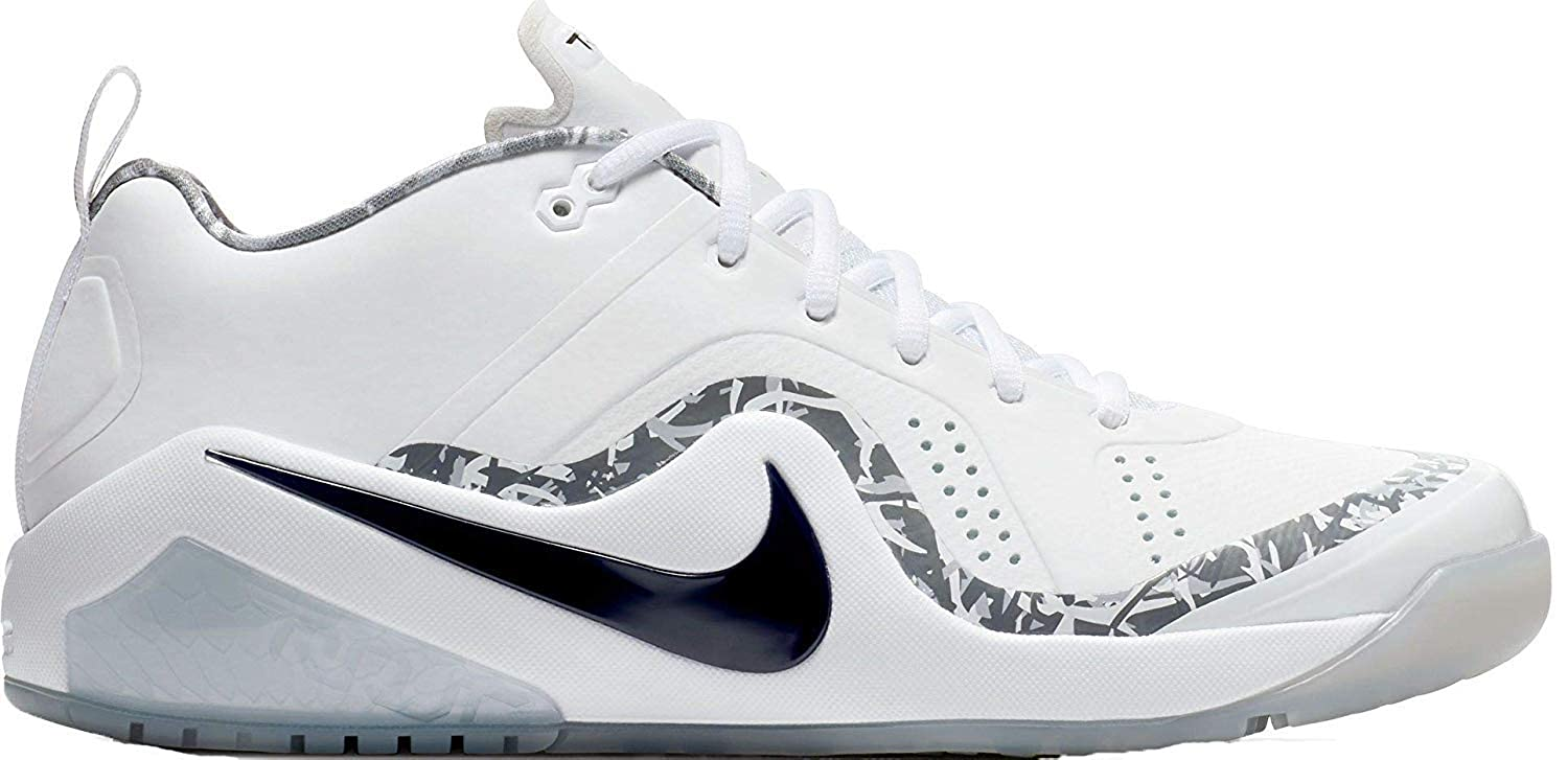 check out 1bf52 89a8b Amazon.com   Nike Force Zoom Trout 4 Turf 917838-100 Men s White-Black-Metallic  Silver Baseball Cleats 13 US   Baseball   Softball