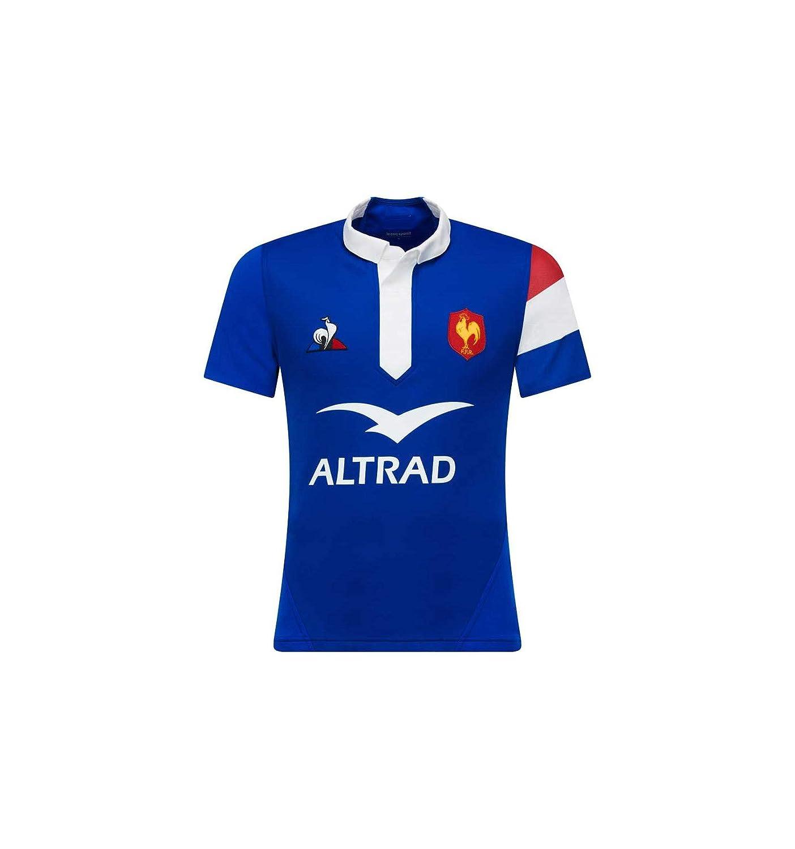 best authentic 36174 d39a5 Le Coq Sportif Maillot Rugby XV de France - Pro Domicile 2018 2019 Adulte   Amazon.fr  Sports et Loisirs