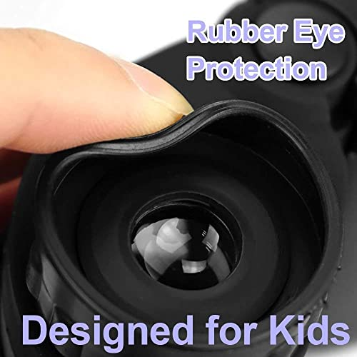 mom myaboys Compact Shock Proof Binocular for Kids – Best Gifts-Birthday Gifts for Kids purpe