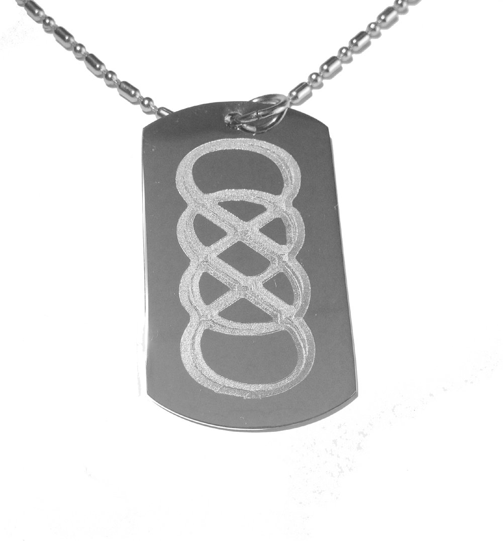 Amazon double infinity math tv show logo symbol military dog amazon double infinity math tv show logo symbol military dog tag luggage tag metal chain necklace pet identification tags pet supplies biocorpaavc Image collections