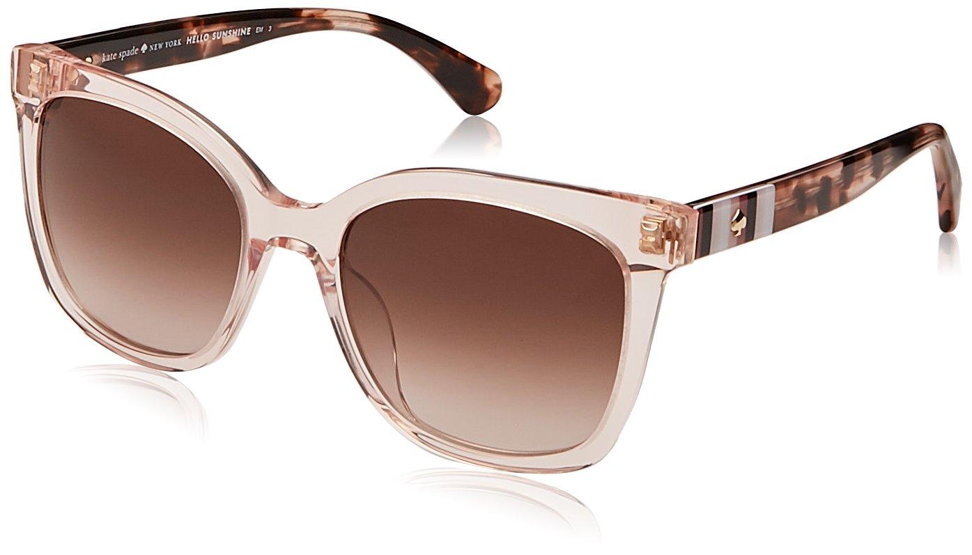 Kate Spade Women's Kiya/s Square Sunglasses, Peach, 53 mm