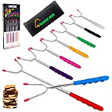 "Aoocan Marshmallow Roasting Sticks Set of 8 Extend 45"" Smores Sticks for Fire Pit, Telescoping Rotating Smores Skewers…"