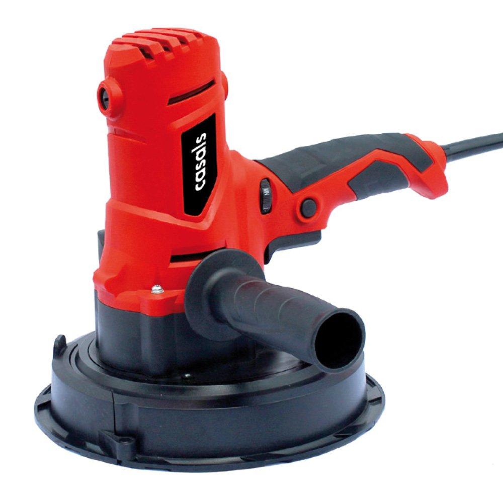 Casals Profesional CSS710VCE - Lijadora de pared (potencia 710 W, 3.000 rpm, plato 180 mm, agarre engomado, saco recoge polvo) color rojo y negro C07038000