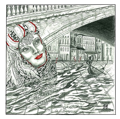 VENICE CARNIVAL SERIES MATTED PRINT - Brocade Lady ()