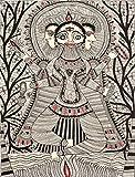 Lord Brahma - Madhubani Painting on Hand Made Paper - Folk Painting from the Village of Madhubani (B