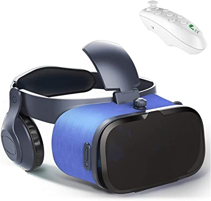 Amazon Com Vr Headset Glasses W Remote Headphone 3d Cellphone Headset Vr Virtual Reality For Iphone 11 Pro Xs Xr X 8 7 6s 6 Plus Android Samsung Galaxy S10 S9 S8 S7