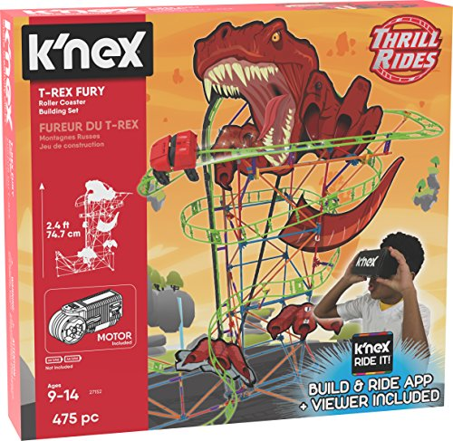 K'NEX Thrill Rides T-Rex Fury Roller Coaster Building Set With K'NEX Ride It! App]()