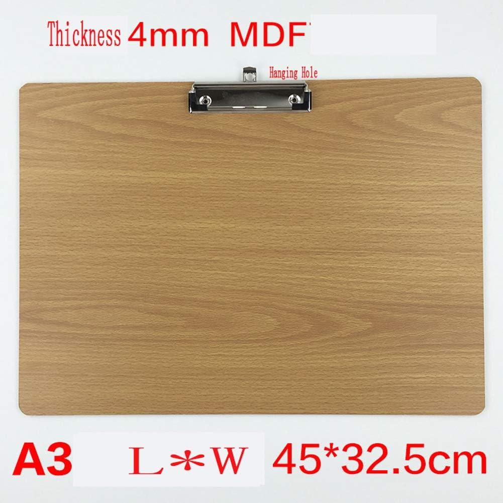 Porte-bloc imperm/éable format A3 paysage avec mat/ériau en PVC r/ésistant et pochette extensible avec /écran en plastique transparent pour la pluie dhiver porte-bloc sur le devant et le dos