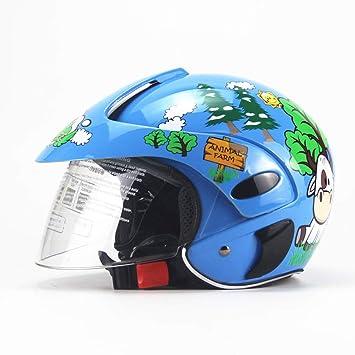 Niños Casco de Bicicleta/Ciclo de Seguridad Casco Protector Ideal para monopatín Dibujos Animados en Bicicleta Cuatro Estaciones Universal Ajustable Deporte ...