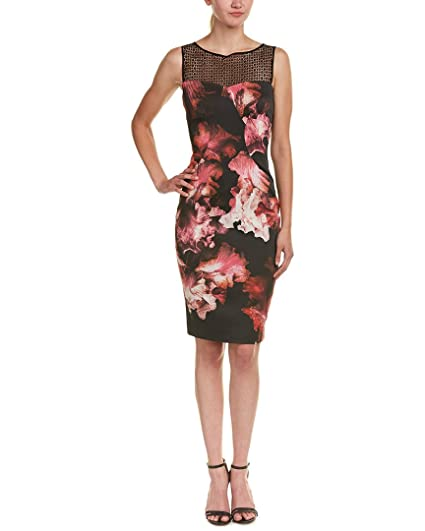 f08dade7336 Karen Millen Midnight Orchid Floral Print Satin Pencil Dress, Multi (Size  UK 12 /