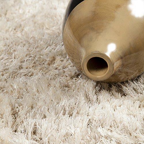 - Surya Rhapsody RHA-1001 Shag Hand Woven 40% Wool / 40% Polyester Peach Cream 5' x 8' Area Rug