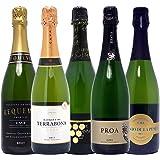 本格シャンパン製法の泡5本セット((W0P514SE))(750mlx5本ワインセット)