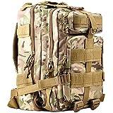 HUKOER Tactical Rucksack - Trekking Backpack 30/45L Hunting Shoulder Bag Waterproof Hiking Bag Military Rucksack School Daypack Combat Pack Large Capacity