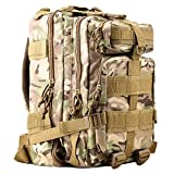 Tactical Backpack - HUKOER 17.7''x 9.9''x 9'' Tactical Rucksack - Fashionable 30L Multiple Colors Outdoor Tactical Shoulder Hiking Daypack Military Backpack Perfect for Young Camping Trekking Hunting (CP Color)