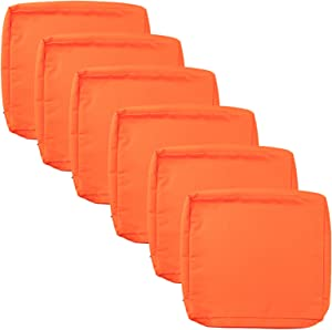 idee-home Patio Chair Cushion Covers 6 Pack, Outdoor Seat Cushion Cover 24