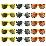 WXBOOM 15pcs Kids Animal Sunglasses for Hawaii Luau Party