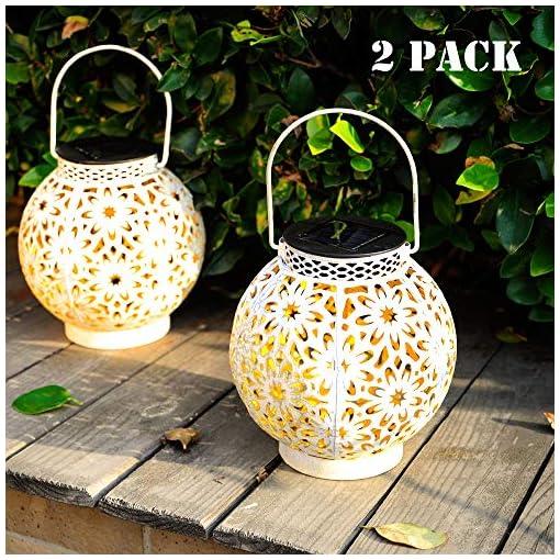 Garden and Outdoor Walensee Solar Outdoor Lights, Hanging Garden Lantern for Patio, Yard. Metal Decorative Waterproof Table Lamp, Retro LED… outdoor lighting