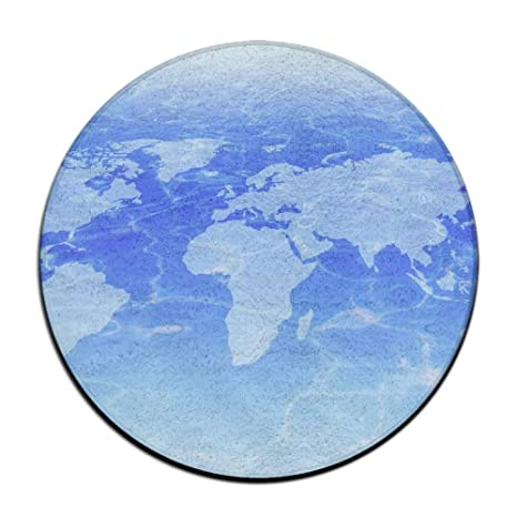 Amazon.: Taichu World Map Circular Doormat Washable Antiskid