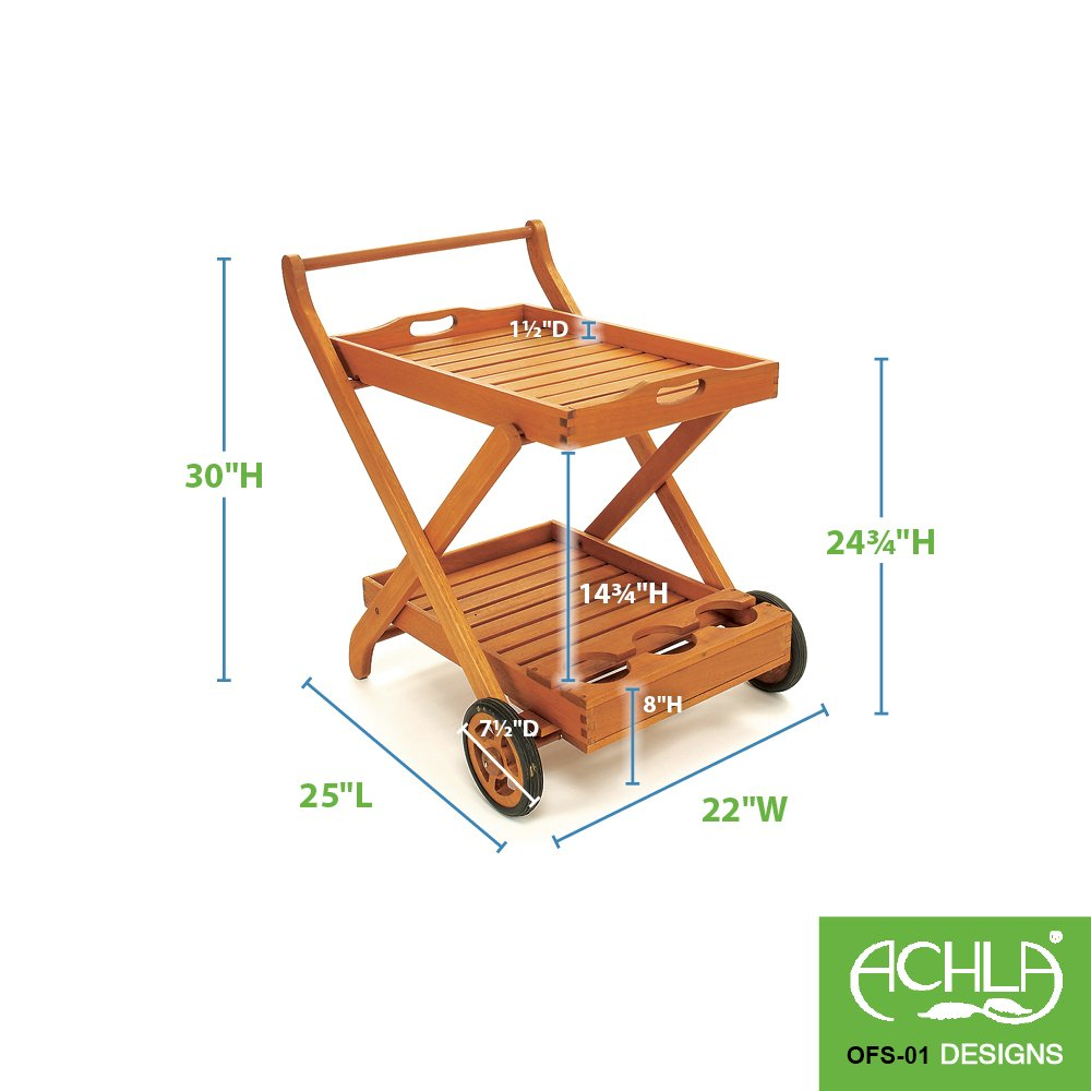 Achla Designs Serving Cart with Tray