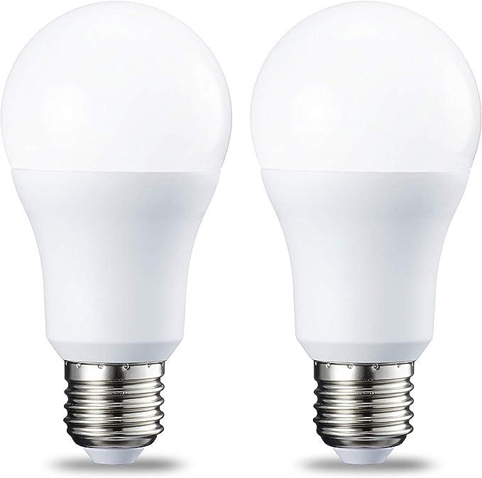 Amazon Basics LED E27 Edison Screw Bulb, 10W (equivalent to 75W), Cool White - Pack of 2: Amazon.co.uk: Lighting