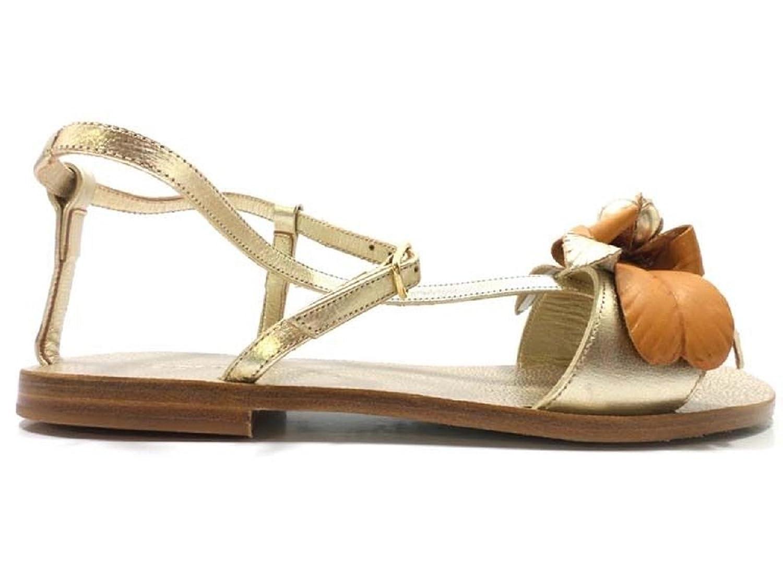 scarpe donna EDDY DANIELE 37 EU sandali platino pelle AV425
