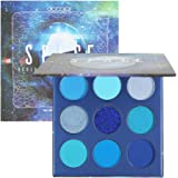 Docolor Eyeshadow Palette 9 Colors Gemstone Shadow Palette Highly Pigmented Mattes Shimmers Naked Smokey Glitter Cream Colorf