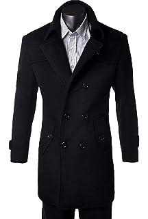 a8e6280ab9695 Yasminey Men s Winter Jacket Men Men Winter Men s Coat Autumn Long Winter  Wool Young Coat Trench