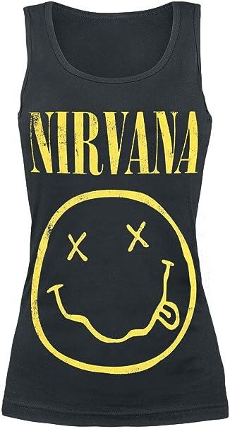 Nirvana Smiley Top Nero